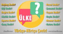 Kürtçe ülke çevirisi