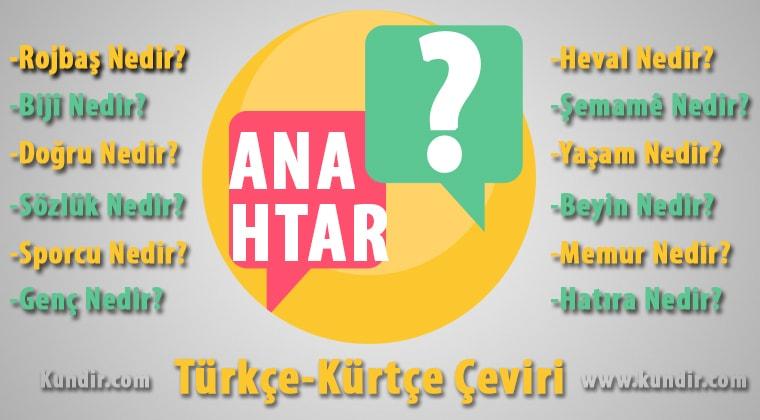 Kürtçe anahtar çevirisi