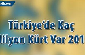 Türkiyedeki Kürtlerin Nüfusu