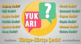 Kürtçe Yukarı Çevirisi