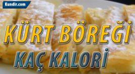 Kürt Böreği Kalori Değeri