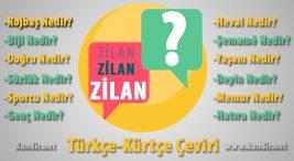 Kürtçe Zilan çevirisi